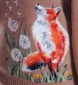 Meninis megztinio dekoravimas vilna